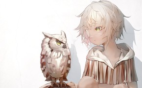 Picture wall, owl, girl