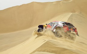 Picture Sand, Auto, Sport, Machine, Speed, Peugeot, Lights, Red Bull, 308, Rally, Dakar, Dakar, SUV, Rally, …