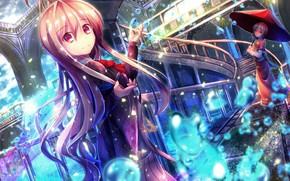 Picture girls, umbrella, anime