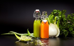 Picture greens, juice, drink, vegetables