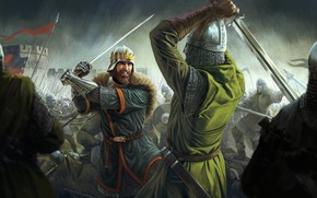 Picture sword, Total War, soldier, rain, war, crown, man, fight, ken, blade, battle, castle, shield, warrior, …