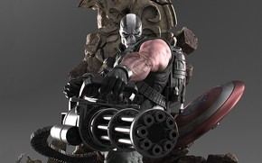 Picture skull, mask, villain, shield, comics, Marvel, Captain America, Capital America