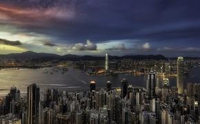 Picture sunset, Hong Kong, Causeway Bay