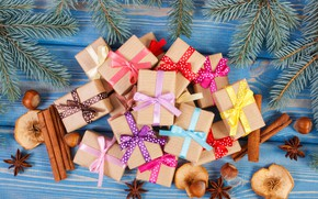 Picture tree, New Year, Christmas, gifts, Christmas, wood, Merry Christmas, Xmas, gift, decoration