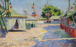 Picture picture, genre, Paul Signac, Holiday in Anyer