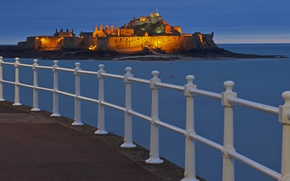Picture castle, UK, fortress, Jersey, St Helier