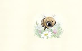 Picture art, bee, clearing, flower, children's, Sydney Hanson