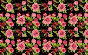 Picture flowers, pattern, art, painting