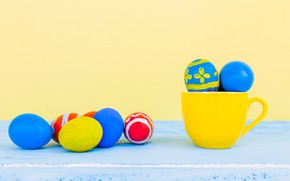 Picture Easter, eggs, Holiday, Cup