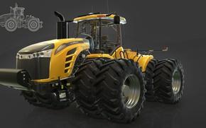 Picture tractor, Farming Simulator 17, mt9700
