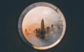 Wallpaper Kuala Lumpur, Malaysia, window, the city, Petronas Twin Towers