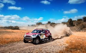 Picture Auto, Mini, Dust, Sport, Machine, Speed, Turn, Race, Skid, Rally, SUV, Rally, X-Raid Team, MINI …