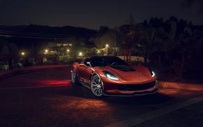 Wallpaper Car, Front, Corvette, Z06, Chevrolet, KARTUNZ, Sport