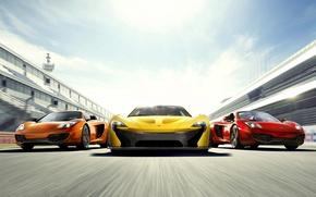 Picture Red, Speed, yellow, orange, Mclaren