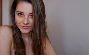 Picture smile, portrait, brown-eyed, Dana, Dana Gerhardt