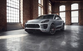 Wallpaper Windows, Macan Turbo, Porsche, the room, Exclusive Performance Edition, grey