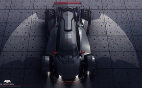 Picture wings, car, batmobile concept