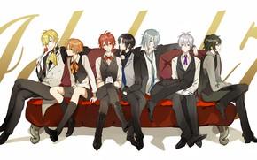 Picture anime, art, guys, IDOLiSH7