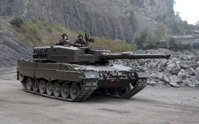 Picture gun, weapon, Leopard, tank, Leopard 2A4, uniform, seifuku, soldiere, Battle tank Leopard 2A4