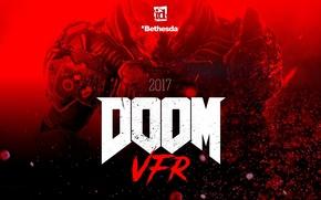 Picture red, blood, game, soldier, marine, Bethesda, Doom, Doom VFR