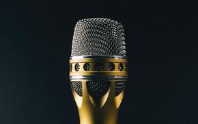 Wallpaper singing, macro, background, microphone