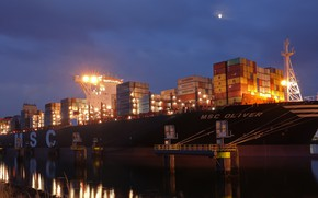 Picture Sea, A container ship, MSC OLIVER