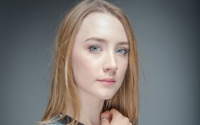 Picture portrait, actress, blue eyes, Saoirse Ronan