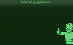 Wallpaper Monitor, Fallout, Bethesda Softworks, Bethesda, Display, Bethesda Game Studios, Vault Boy, Vault-Tec, Vault Boy, Bethesda, ...