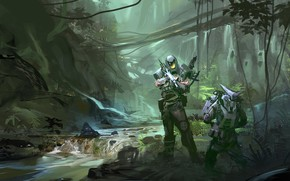 Picture Digital Art, Robin Olausson, Halo Master Chief, far away
