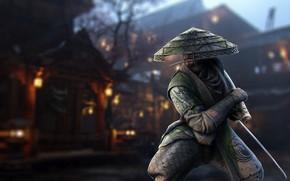 Wallpaper hat, katana, ken, blade, samurai, Samurai, kimono, bushido, For Honor, Orochi