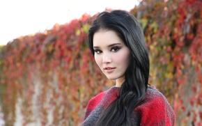 Picture look, model, brunette, Malena Fendi, Malena f