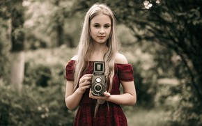 Picture girl, background, sweetheart, the camera