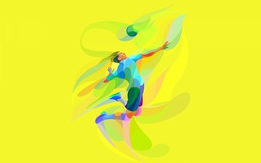 Picture the game, the ball, athlete, volleyball, low poly, volleyball player