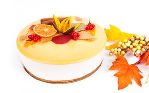Picture autumn, leaves, the sweetness, cake