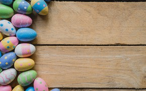 Picture eggs, spring, colorful, Easter, wood, spring, Easter, eggs, decoration, Happy, tender