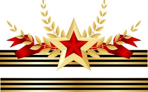 Wallpaper star, tape, May 9, Victory day