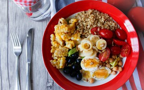 Picture dish, salad, cuts