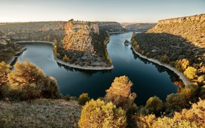 Picture autumn, nature, river