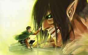Picture art, Titan, Shingeki no Kyojin, Eren Yeager, Attack of the titans, Levi