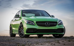 Picture Green, AMG, Mercedes - Benz, C63