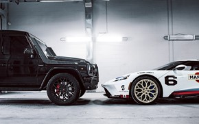 Picture Ford, Mercedes, Black, White, G63, Martini, W463