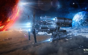 Picture space, planet, stars, Star Conflict, pirats