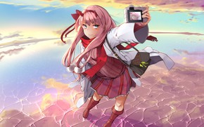 Picture art, anime, girl, Cute in France, Darling In The Frankxx