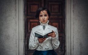 Picture look, girl, style, blouse, book, Faith, Hakan Erenler