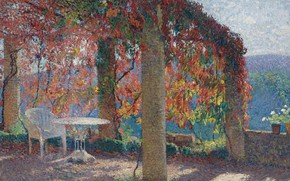 Picture landscape, picture, Henri-Jean Guillaume Martin, Henri Matrin, The Arbour in the Southwest of Marquayrol in …