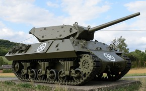 Picture self-propelled, (SAU), artillery, anti-tank, M10