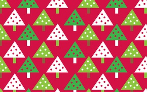Picture abstraction, holiday, pattern, paint, tree, New Year