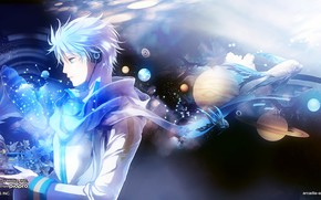 Picture space, guy, Vocaloid, Vocaloid, gramafon, Kaito
