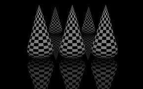 Picture black, cell, black background, cones