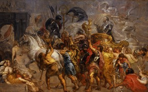 Picture picture, history, Peter Paul Rubens, Pieter Paul Rubens, Triumphal Entry of Henry IV into Paris